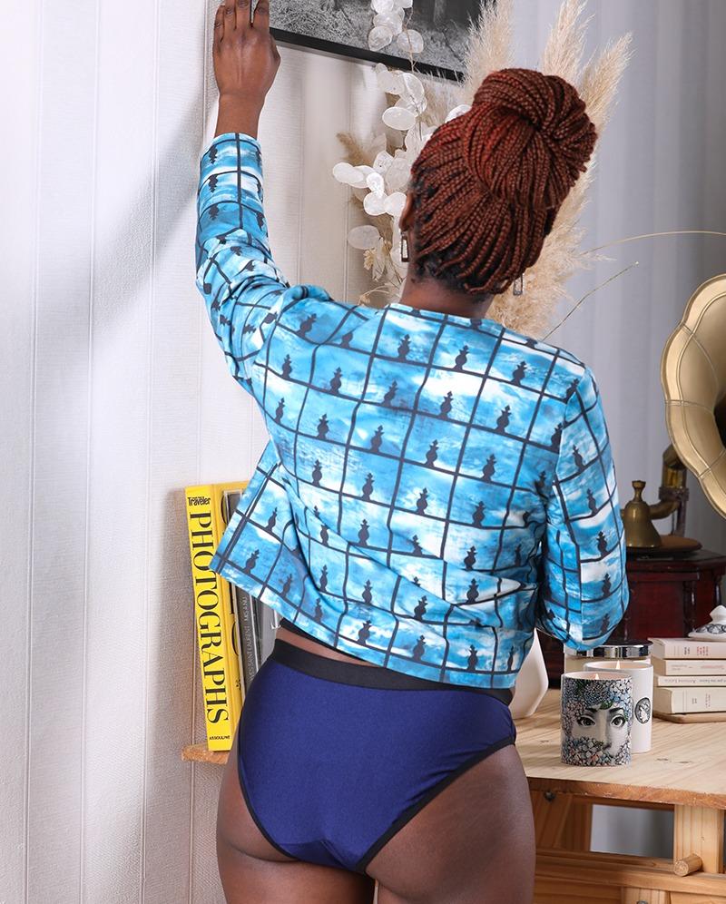 Culotte siline bleu